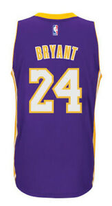 54a0968ecbb Kobe Bryant  24 Los Angeles Lakers Purple adidas Swingman Mens Home ...