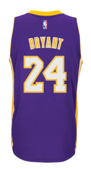 buy popular a5fa2 74190 Kobe Bryant #24 Los Angeles Lakers Purple adidas Swingman Men's Home Jersey