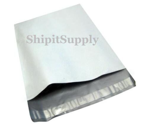 2.5 Mil 1-1000 10x13 # 3 White Poly Mailer Shipping Bags