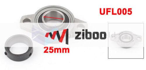 UFL005 Zinc Alloy Self-aligning Pillow Block Bearing Flange 25mm Silver Gray #