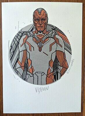 Tyler Stout Vision Handbill Avengers Marvel Art Poster Print Mondo Thor Ebay