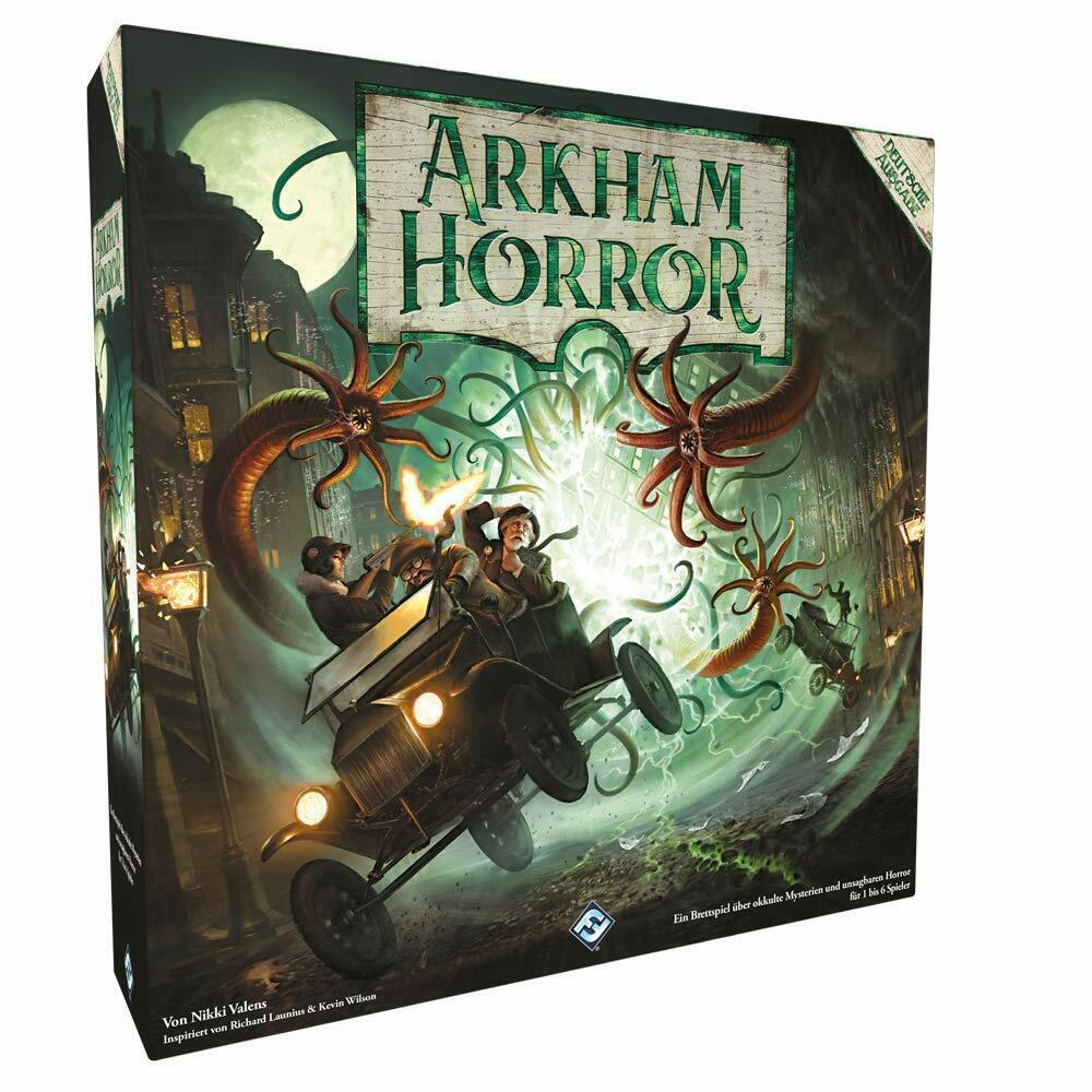 Arkham HORROR 3. edizione-Gioco  di base-Versione tedesca Asmodee nuovo  Garanzia del prezzo al 100%