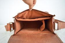 13 Inch Real Leather Padded Briefcase Satchel Shoulder Bag Digi SLR Camera