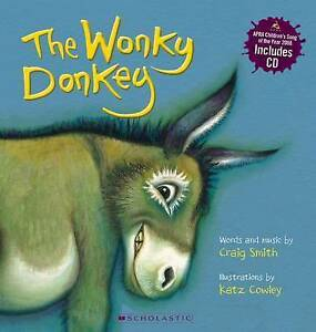 The-Wonky-Donkey-by-Craig-Smith-paperback-book-with-bonus-CD-Free-Post-Brand-NEW