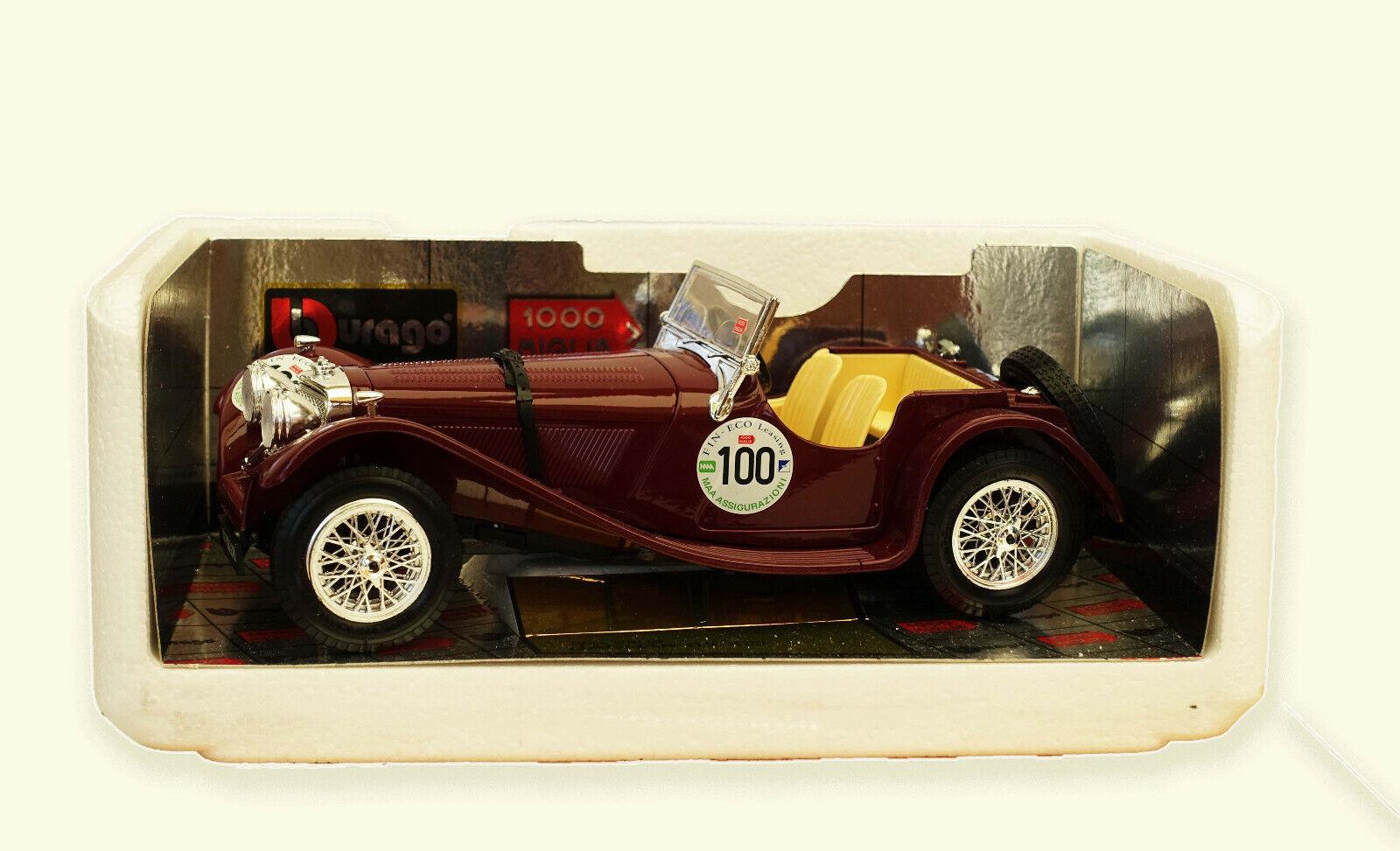 Voiture-miniature Jaguar SS 100 1937 1000 Miglia Bburago ® 1 18