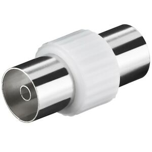 IEC coaxial antenas adaptador pieza de conexión en conexión conector embrague HD