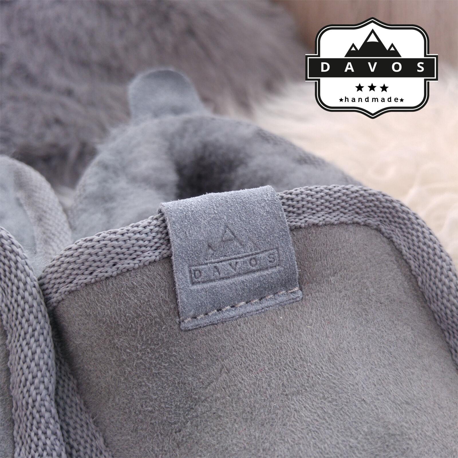 NUOVI NUOVI NUOVI Pantaloncini Uomo Deluxe Grigio 100% Autentico Pelle Di Pecora Pelle sintetica scamosciata pantofole suola rigida EVA 28e937