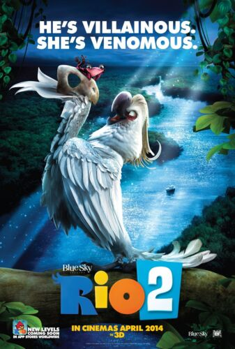 2014 - He/'s Villainous She/'s Venomous Movie Poster Rio 2 24x36