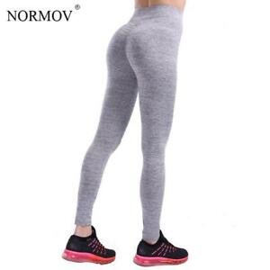 75d13d716a47e Image is loading NORMOV-Casual-Push-Up-Fitness-Leggings-Women-Sportswear-