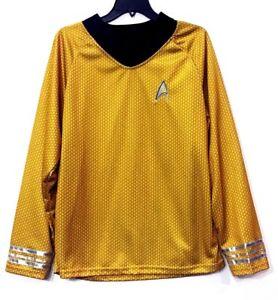 Image is loading NWOT-Rubie-039-s-Costume-Star-Trek-Deluxe-  sc 1 st  eBay & NWOT Rubieu0027s Costume Star Trek Deluxe Captain Kirk Shirt Medium ...