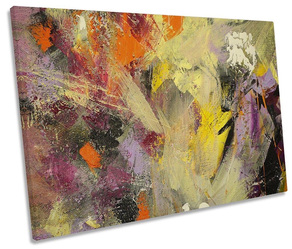 Paint Strokes Multi Colourot SINGLE CANVAS WALL ARTWORK Print Art
