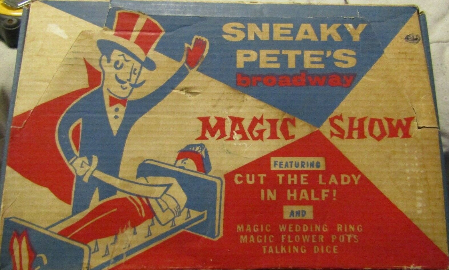 Vintage Raro Remco Sneaky Pete's Broadway espectáculo de magia en caja es
