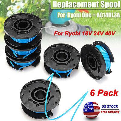 6 Pack Auto Feed Line String Trimmer Replacement Spool Kit For Ryobi 18V 24V 40V