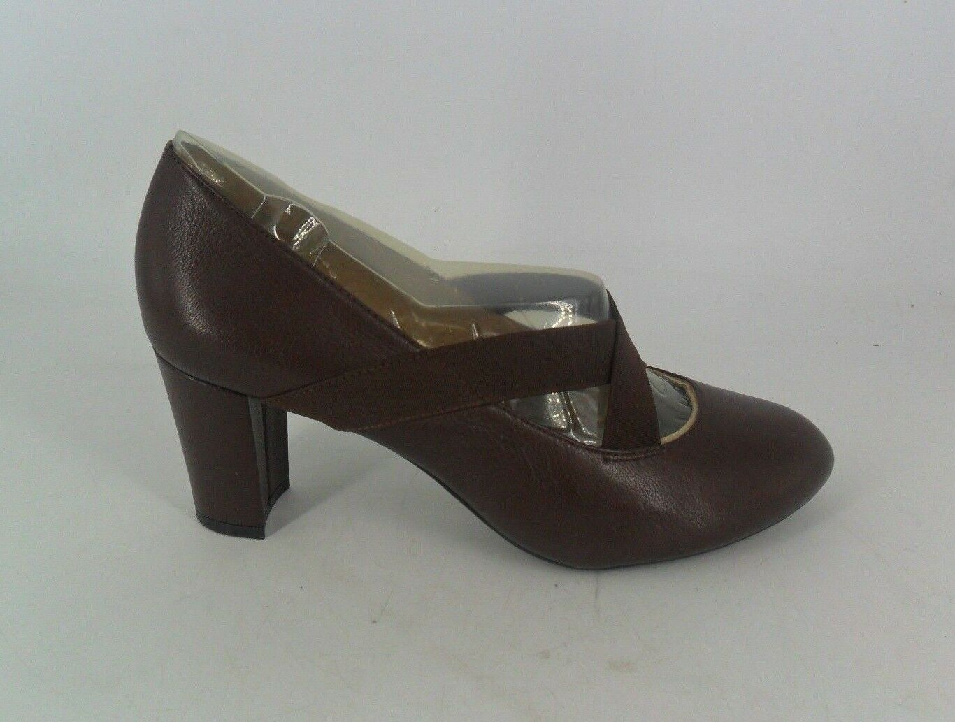 Naturalizer Brown Shoes Elastic Cross Strap Court Shoes Brown UK 5 EU 37 JS088 EE 01 fea430
