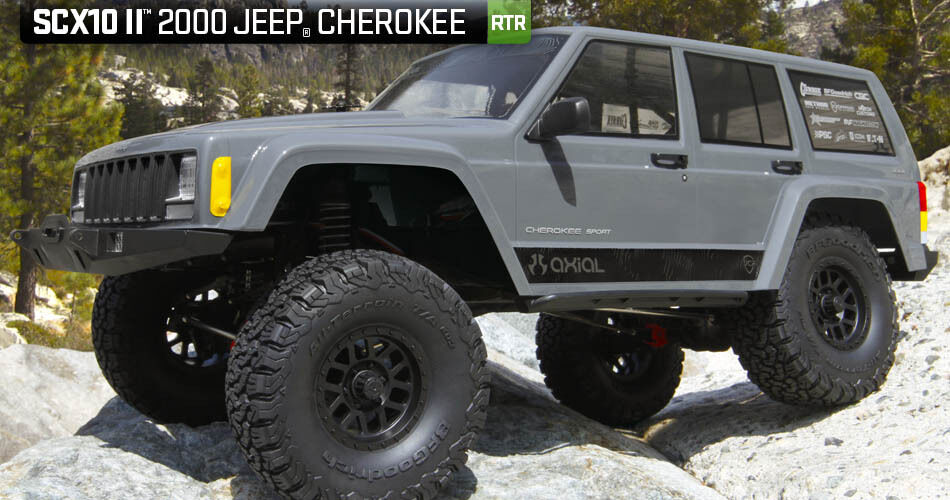 Axial Racing SCX10 2018 Jeep Cherokee  4WD II 2 listo para correr AXID7 escala AX90047