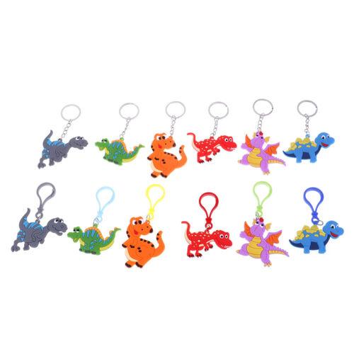 6Pcs Dinosaur keyring dinosaur keychain pendant kids school bag keychain