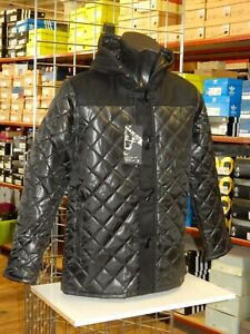 Details About Mens Hooded Diamond Quilted Duffle Coat Jacket
