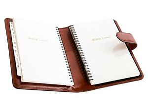 bosca old leather address book weekly minder agenda planner 927 ebay