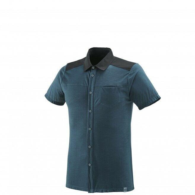 Millet Cloud Peak wool camisa manga corta Men-camisa Orion  azul  bienvenido a elegir