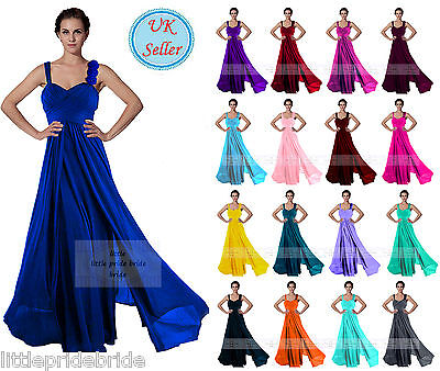 A-Line Princess Full Length Flower Straps Evening Bridesmaid Dress 6-22 JS55