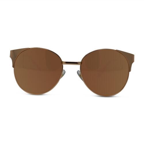 Polarized Metal Round Rose Gold Sunglasses