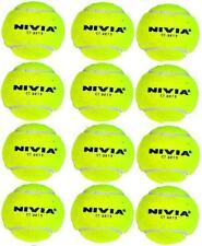Nivia Yellow Heavy Cricket Hard Tennis Balls (Pack of 12)