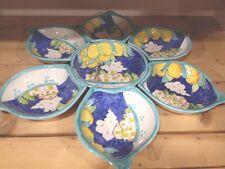 Antipastiera Sole 7 Pezzi in Ceramica Vietrese Decorata a Mano ceramica Vietri