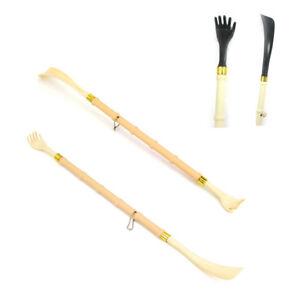 """20"""" Long Back Scratcher Shoe Horn Shoehorn New Bamboo Backscratcher Massage Body"""