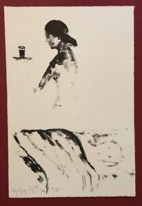 Stephan Stüttgen, tra noi niente, litografia, 1989, firmato a mano