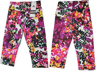 adidas Mädchen Girl Sport Shorts Pant Tight AJ5345 YG W 3/4 TG Q24 lila NEU @324