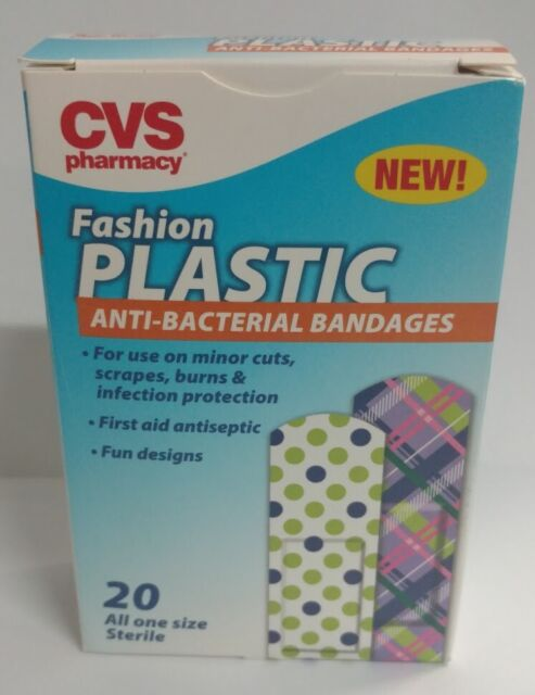 Cvs Fashion Plastic Anti Bacterial Band Aids Boxes 120 Bandages