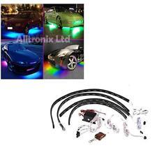MULTI COLOURED UNDER CAR LED LIGHTING KIT 4 PCS STRIPS HIGH POWER UNIVERSAL FIT
