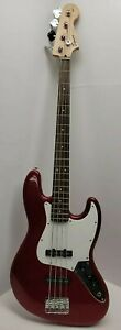 Fender Squier Affinity Series P-Bass P J Configuration Bass in Maroon Very Nice