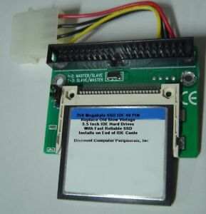 256-Megabyte-SSD-Replace-Vintage-3-5-034-IDE-Drives-with-40-PIN-IDE-SSD-Card