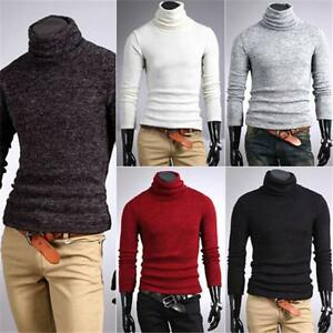 Mens turtleneck sweaters shirt Cotton neck jumper Sweaters Stretch Shirt