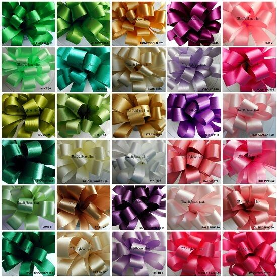 BERISFORDS WIDE DOUBLE SATIN RIBBON 31 COLOURS 35MM, 50MM, 70MM 1&2 MTR LENGTHS
