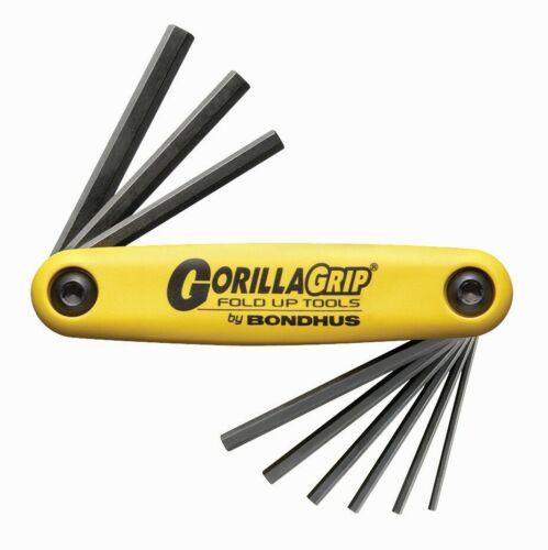 Bondhus Hexagonal plume Clé Set GorillaGrip Inch Pouce 0.050-3//16 12591
