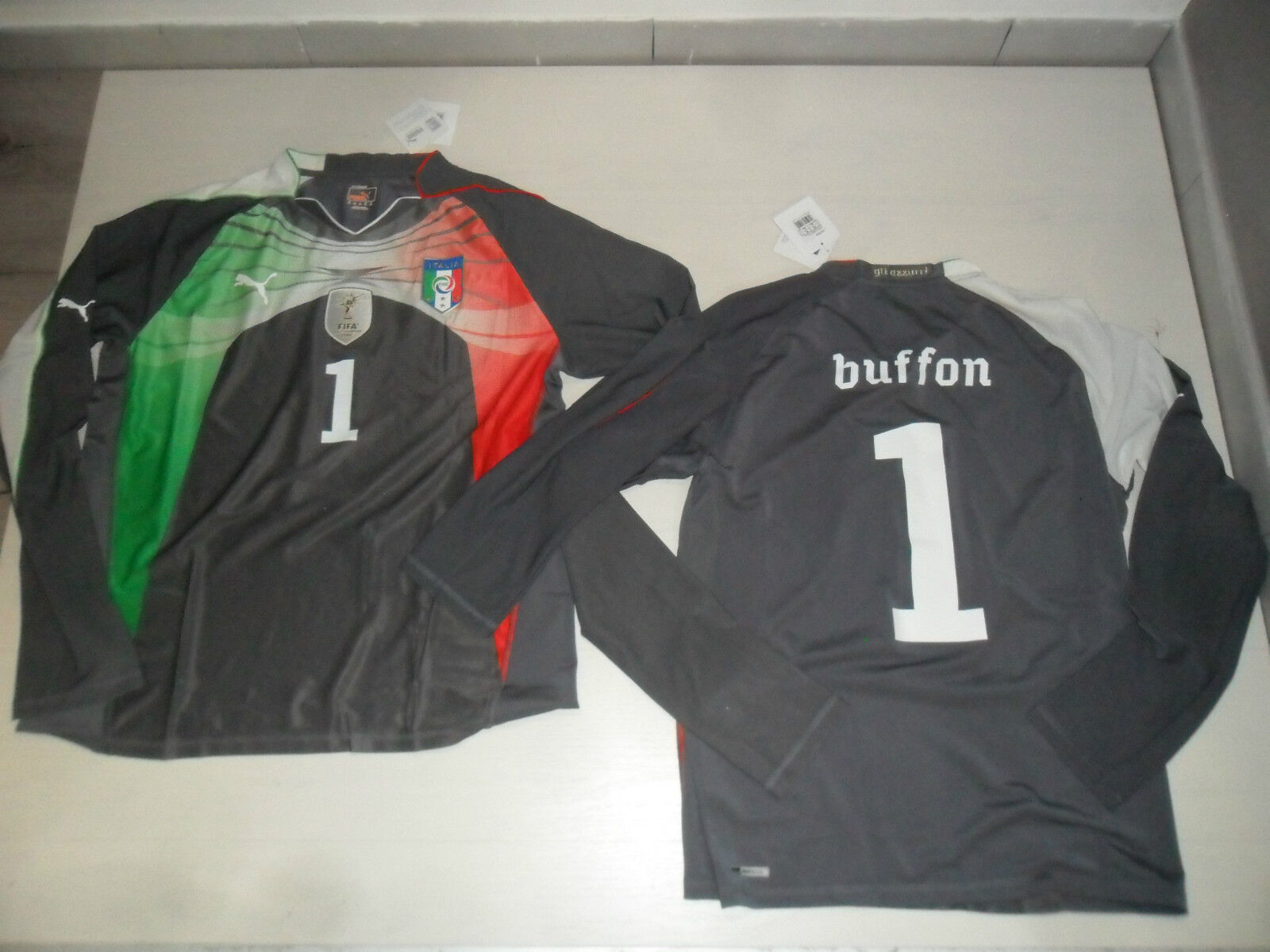 2574 PUMA ITALY AUTHENTIC SHIRT JERSEY LONG SLEEVE BUFFON ITALIA MAGLIA PORTIERE