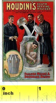 CDHM 1:12 DOLLSHOUSE  Mini Houdini Magic Escapology  Poster Print