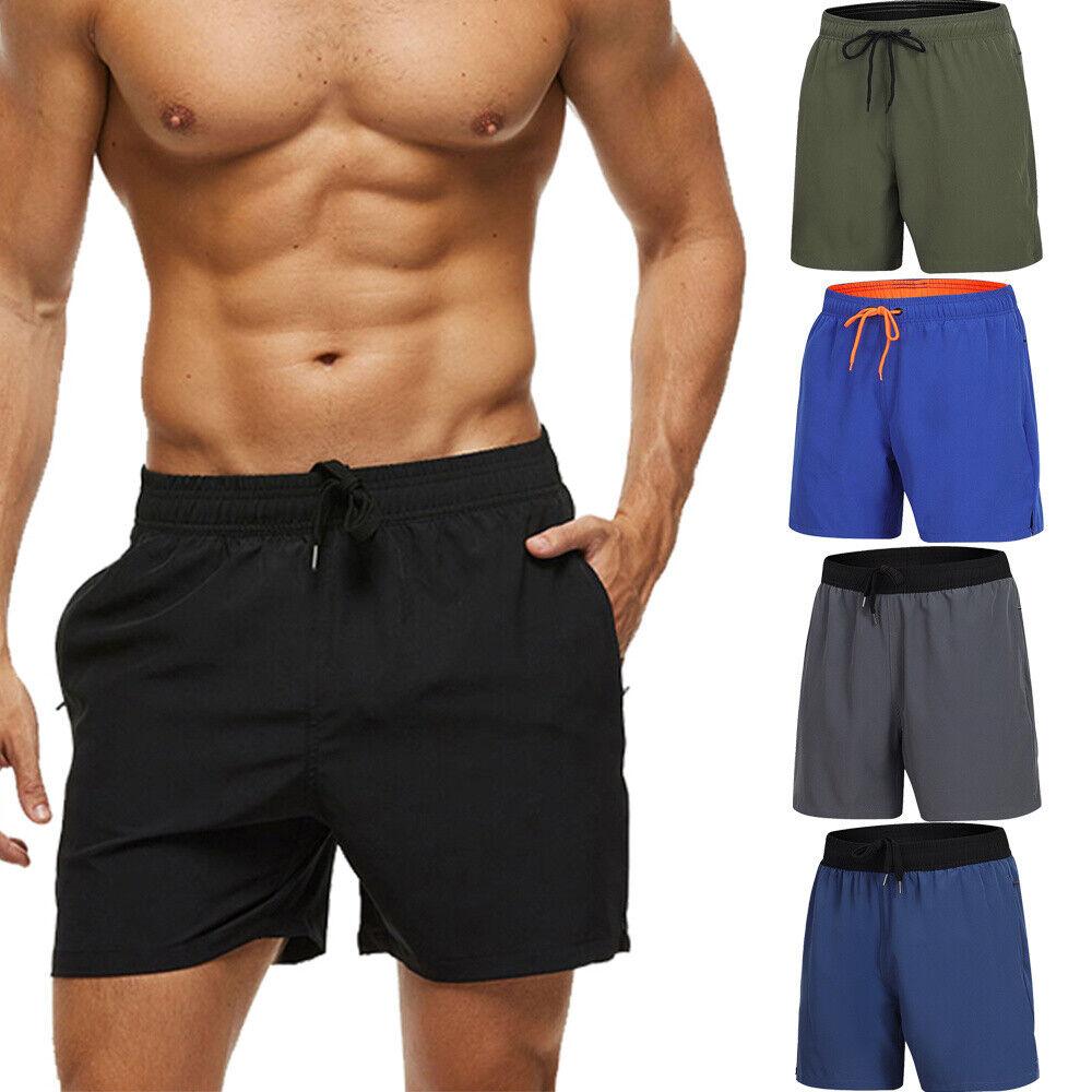 Padaleks Mens Swimwear Sports Running Shorts Swim Trunks Quick Dry Lightweight with Pocket Print Beach Short Pants