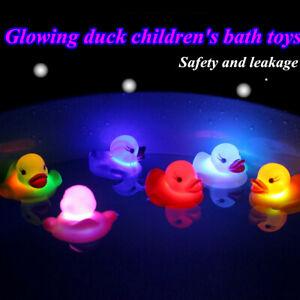 3X-giallo-in-gomma-squeaky-Anatre-Lampeggiante-LED-LUCE-COLORATA-A-Bath-Giocattoli-Bambino