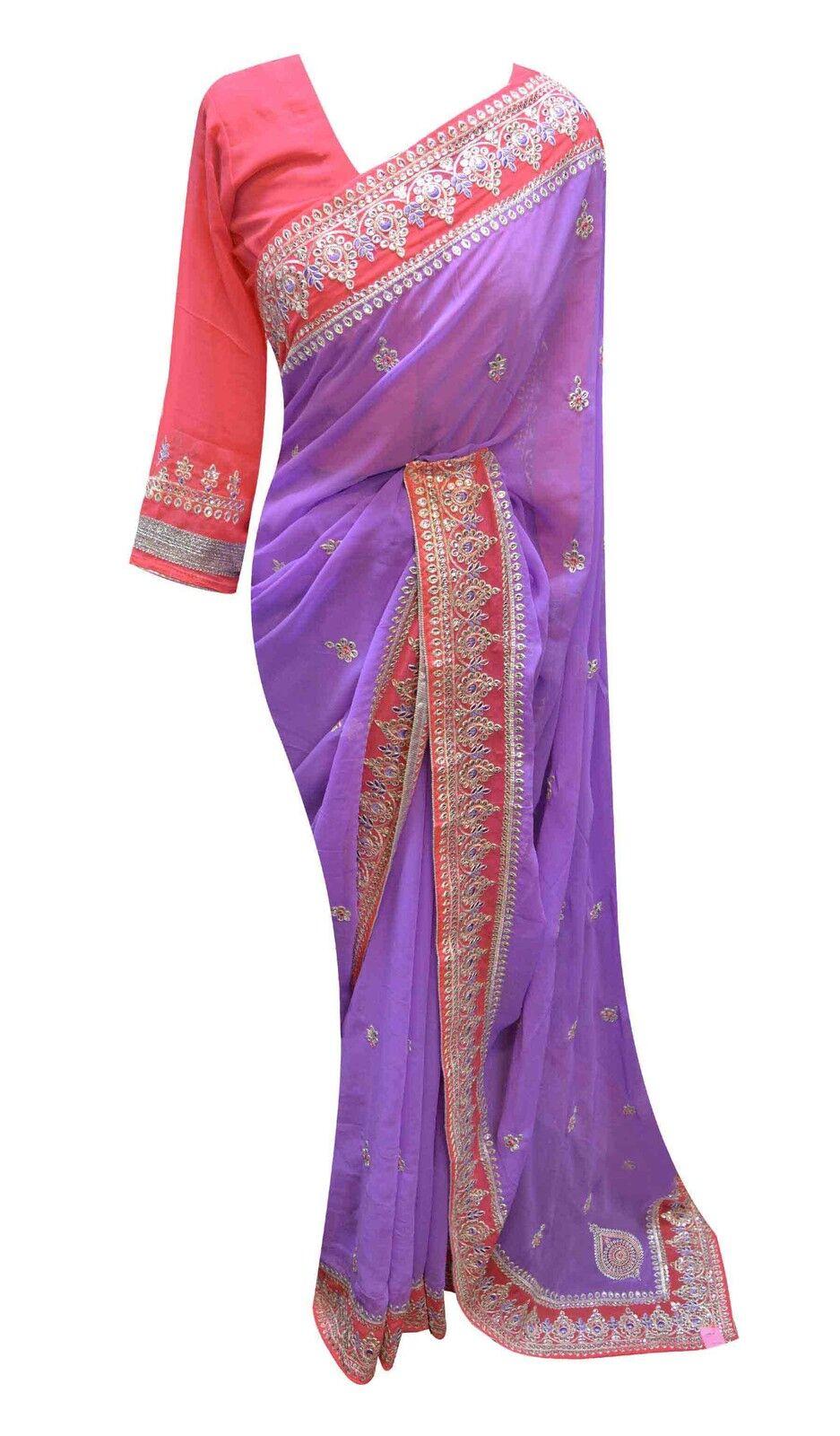 Damen Bollywood Designer Designer Designer Mode Partykleidung Indian Südafrika asiatisch Saree | Ausgezeichnete Leistung  | In hohem Grade geschätzt und weit vertrautes herein und heraus  f3fc06