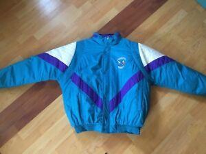 0c78174e461 Image is loading Vintage-Charlotte-Hornets-Starter-Puffer-Coat -Large-Excellent-
