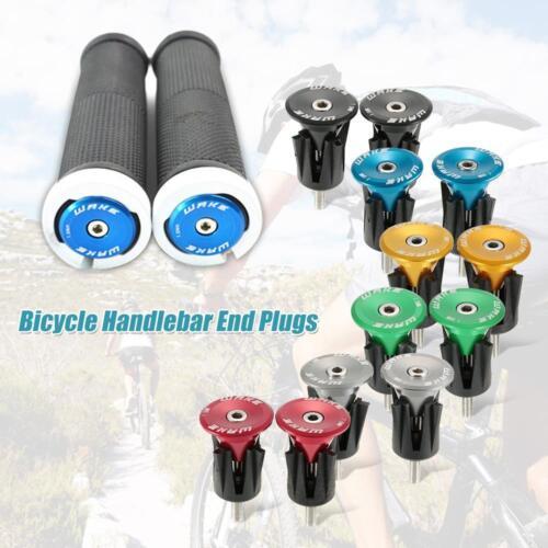 4pcs Bike MTB Black Mini Rubber Grip Handlebar Bar End Plugs Stoppers Caps SM