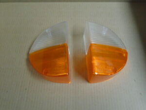 Triumph STAG ** Front SIDE / INDICATOR LAMP LENS PAIR **(writing upside down)