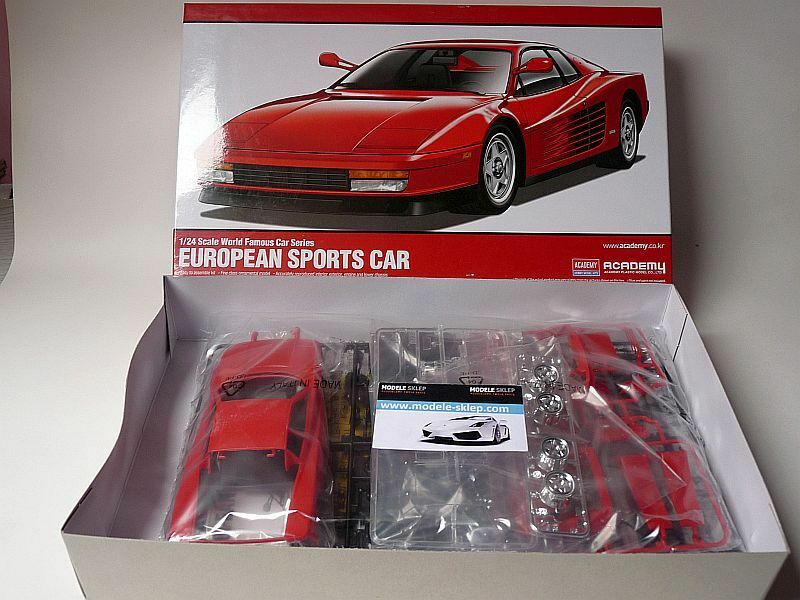 Model Car Kit FERRARI TESTAROSSA  - 1 24 - ACADEMY