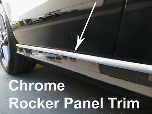 2pcs CHROME SIDE DOOR BODY Molding Trim Stripe for Pontiac models