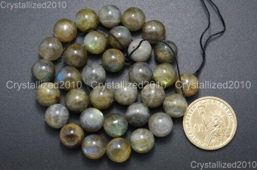 "Natural Labradorite Gemstone Round Loose Beads 2mm 3mm 4mm 6mm 8mm 10mm 12mm 16/"""