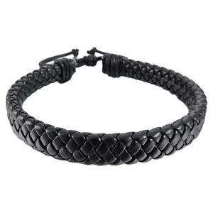 HOT-Leather-Bracelet-Bangle-Cuff-Rope-Black-Surfer-Wrap-Adjustable-Men-Women