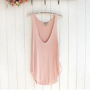 Summer Vest Woman Vest Lady Sleeveless V-Neck Candy Vest Loose Tank Tops T-shirt